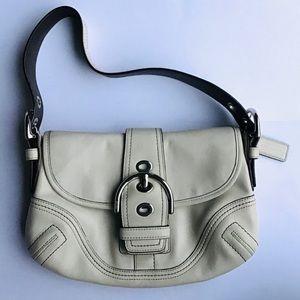 Coach Ivory Purse Designer Soho Hobo Purse Bag